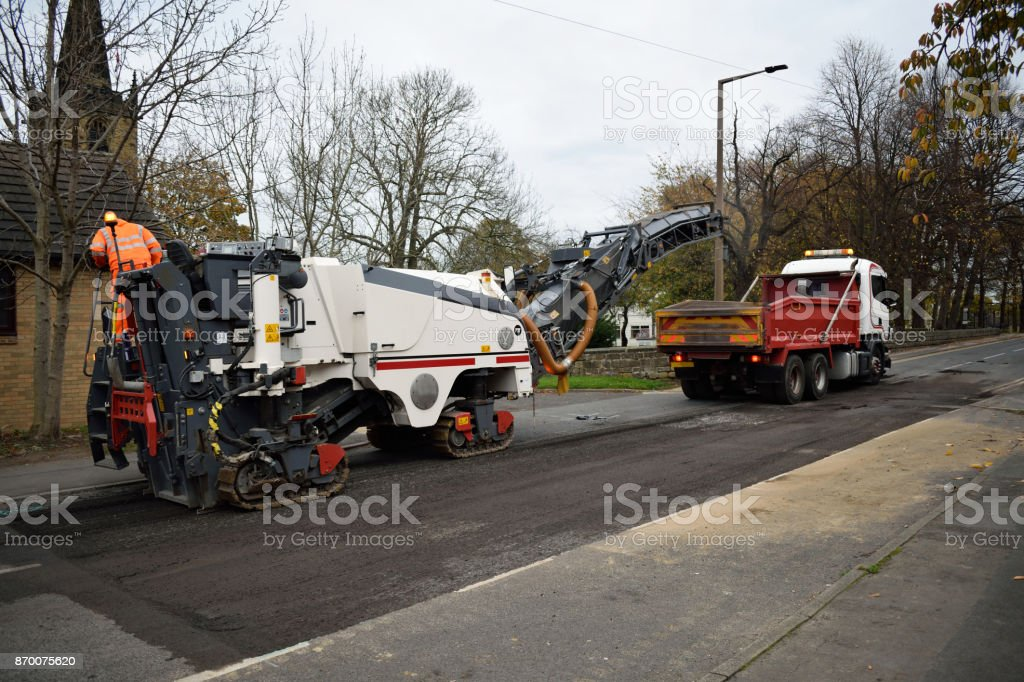 Wirtgen Cold Road Asphalt Milling And Planing Machine stock photo