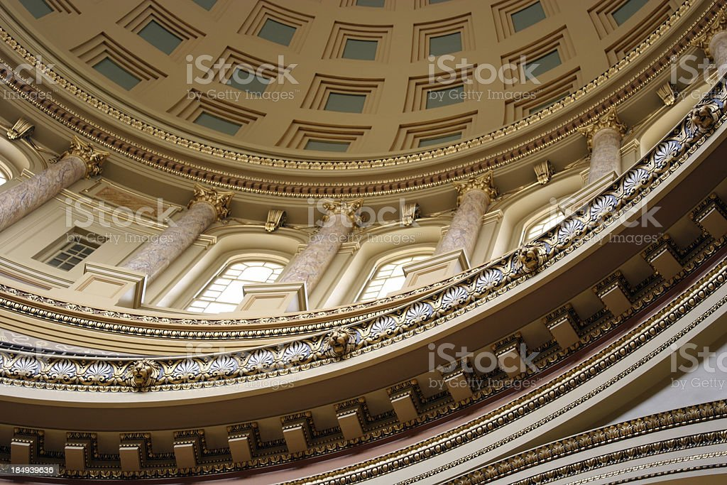 Wisconsin Capitol dome stock photo