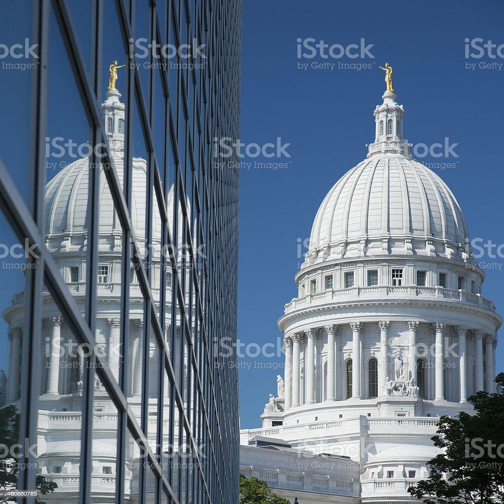 Wisconsin Capitol stock photo
