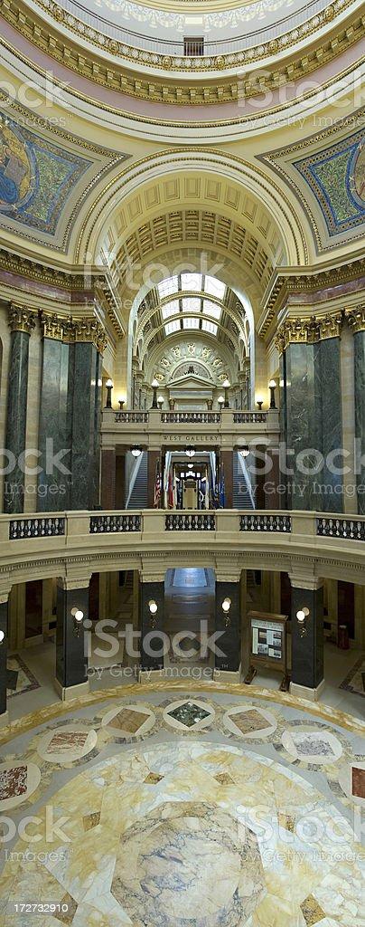 Wisconsin Capitol Rotunda royalty-free stock photo
