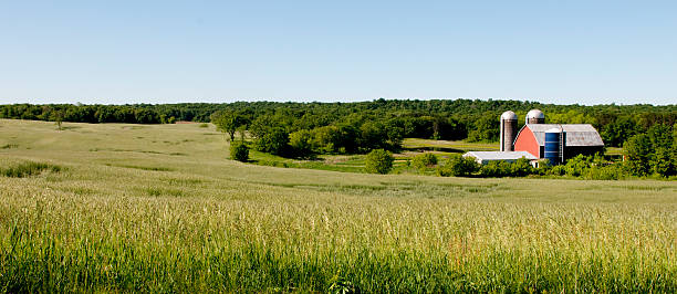 Wisconsin Farm Panoramic  wisconsin stock pictures, royalty-free photos & images