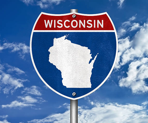 Wisconsin interstate sign concept Wisconsin interstate sign concept dane county stock pictures, royalty-free photos & images