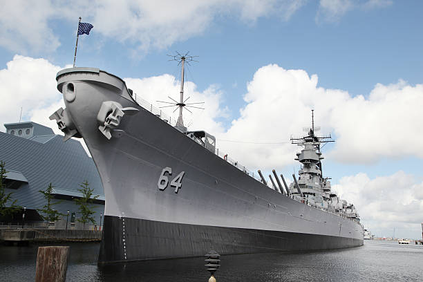 USS Wisconsin stock photo