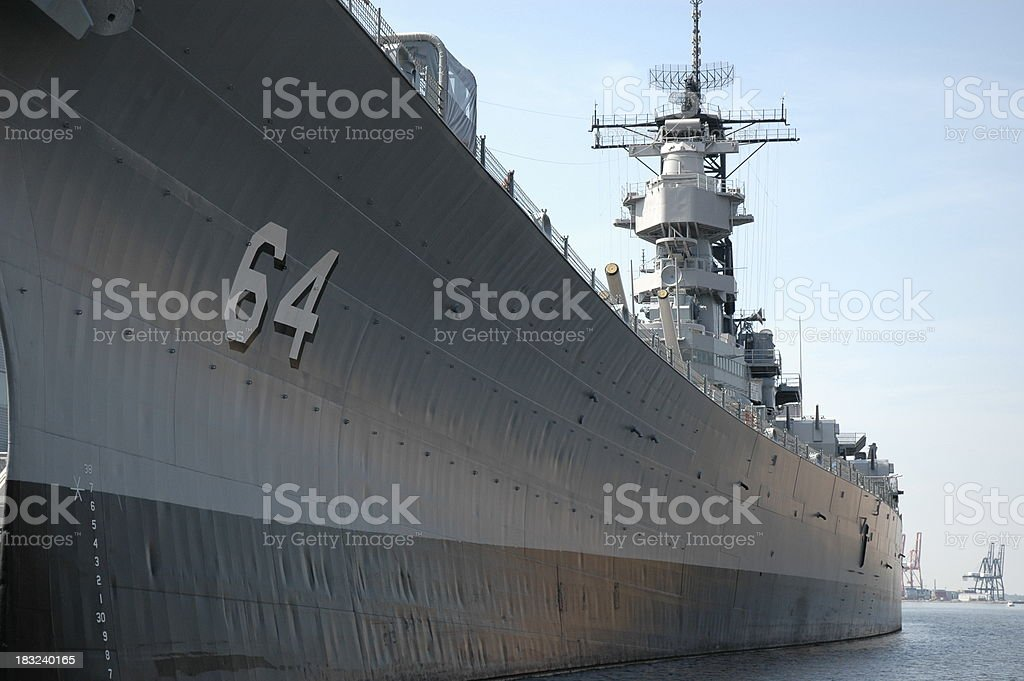 USS Wisconsin royalty-free stock photo