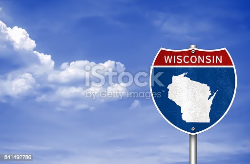 Wisconsin road sign map