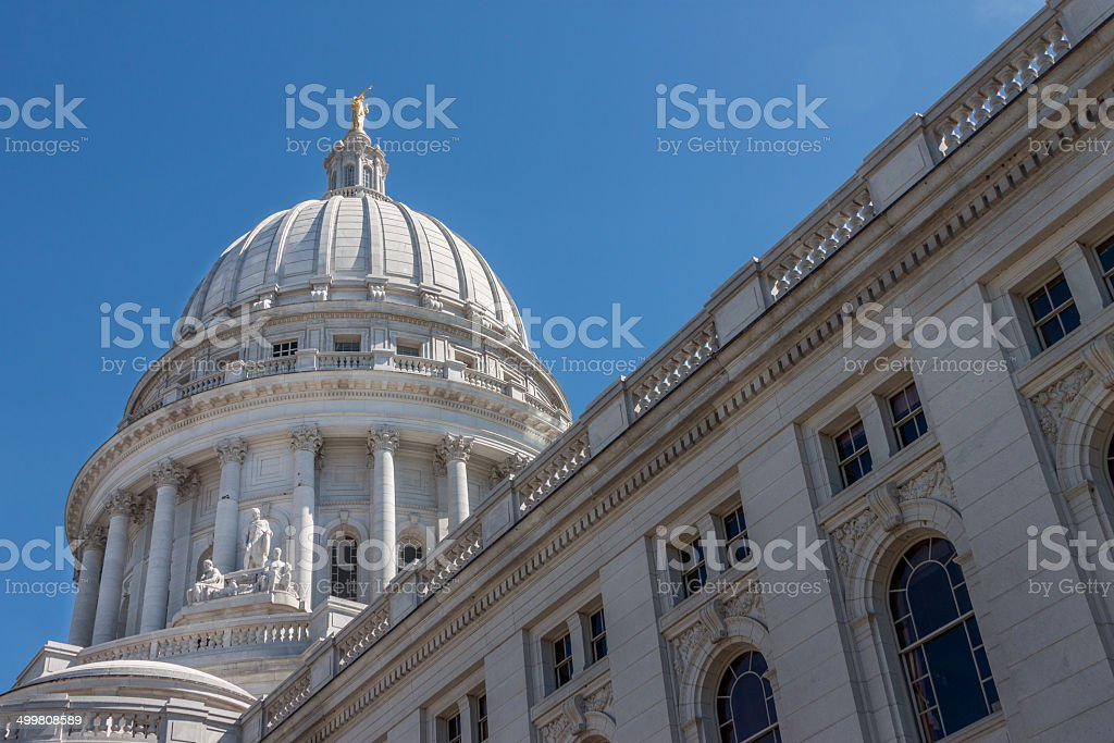 Wisconsin State Capital stock photo