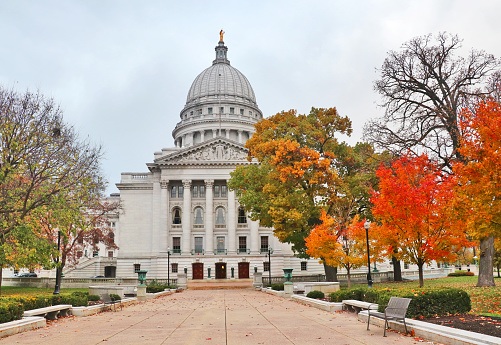 Wisconsin State Capitol Building Stock Photo - Download Image Now