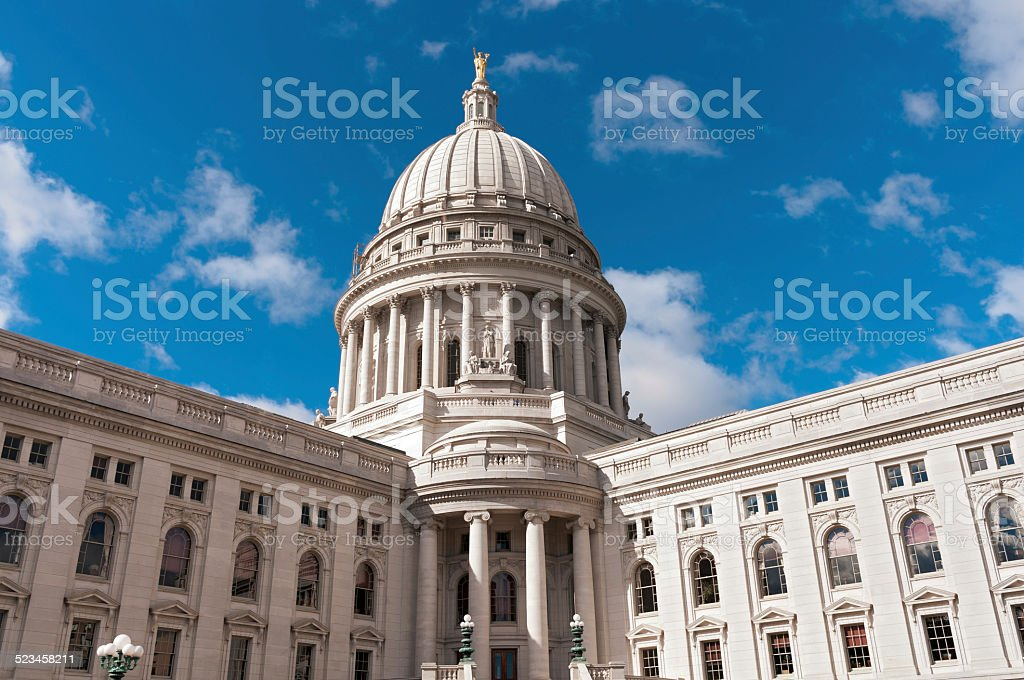 Wisconsin State Capitol Exterior stock photo