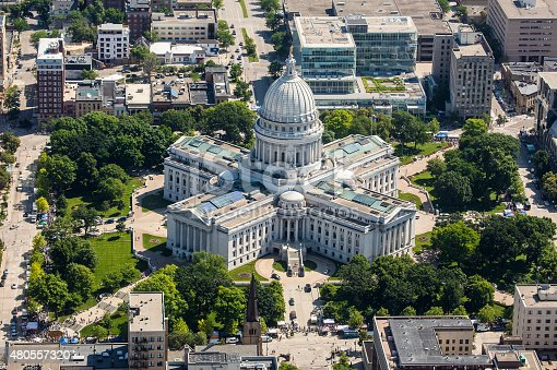 istock Wisconsin State Capitol from air 480557320