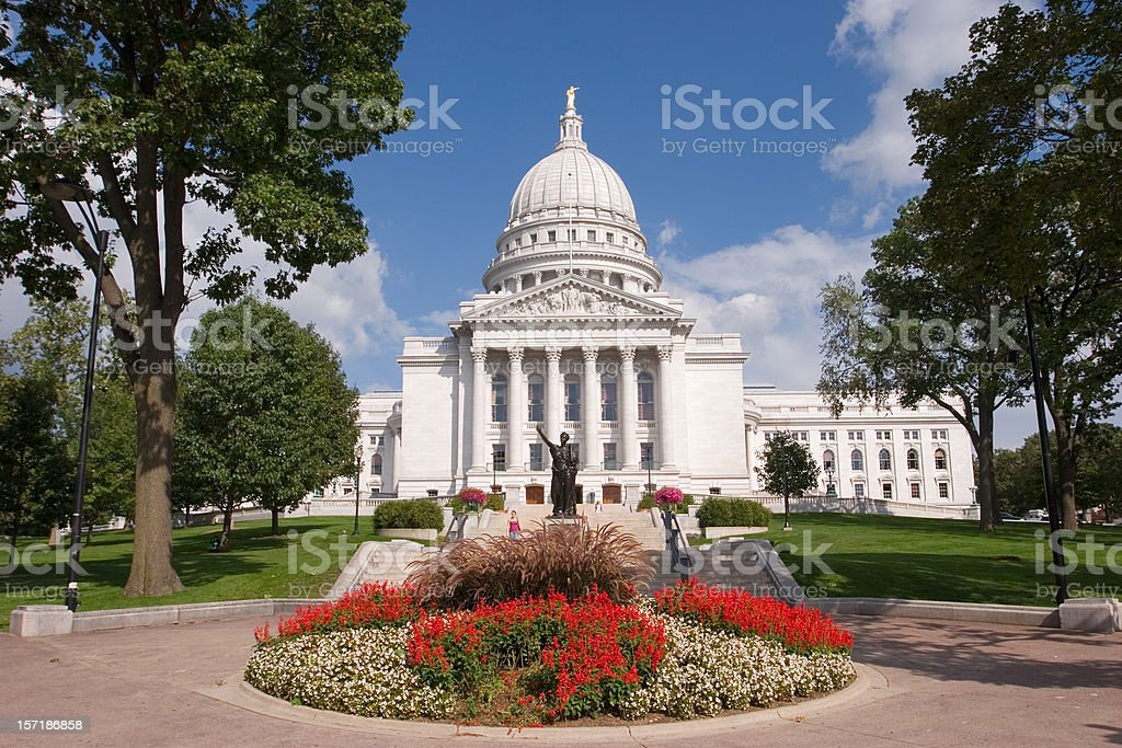 Wisconsin State Capitol  Architectural Dome Stock Photo