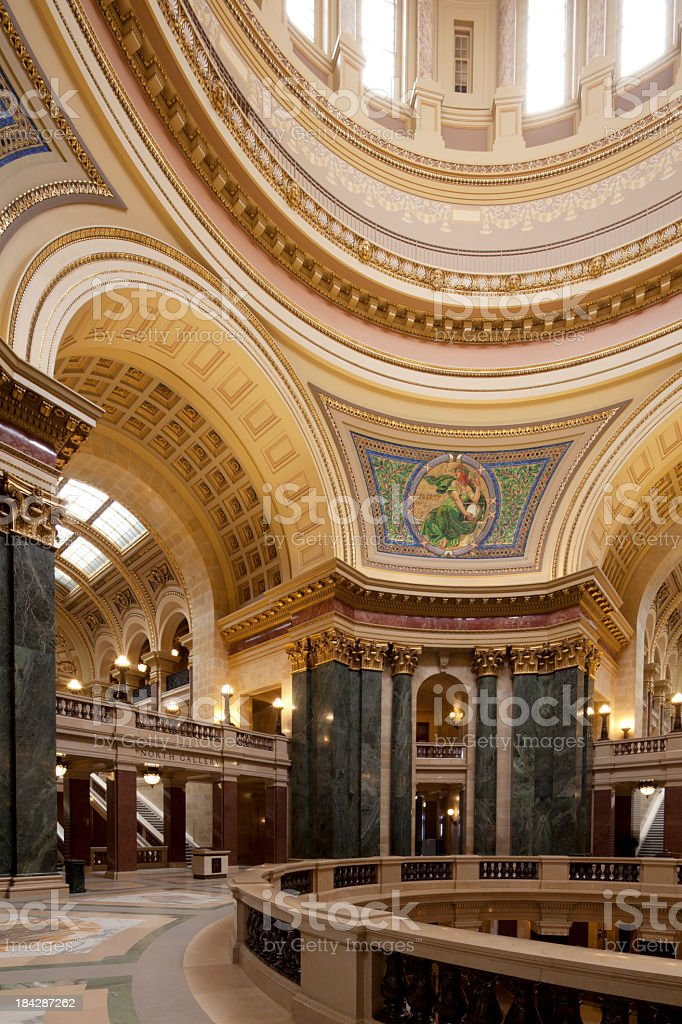 Wisconsin State Capitol royalty-free stock photo