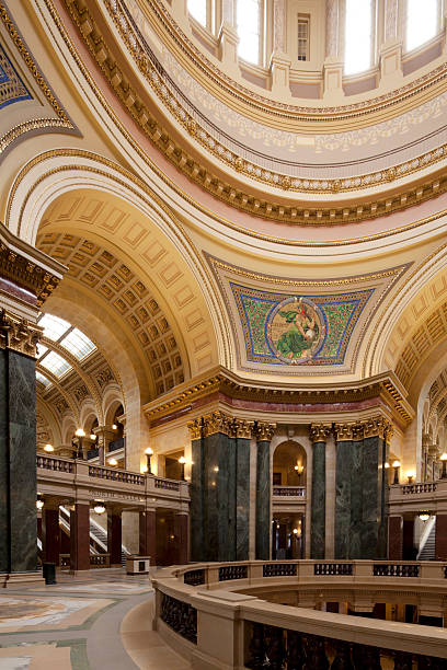 Wisconsin State Capitol the interior of Wisconsin State Capitol in Madison wisconsin state capitol stock pictures, royalty-free photos & images