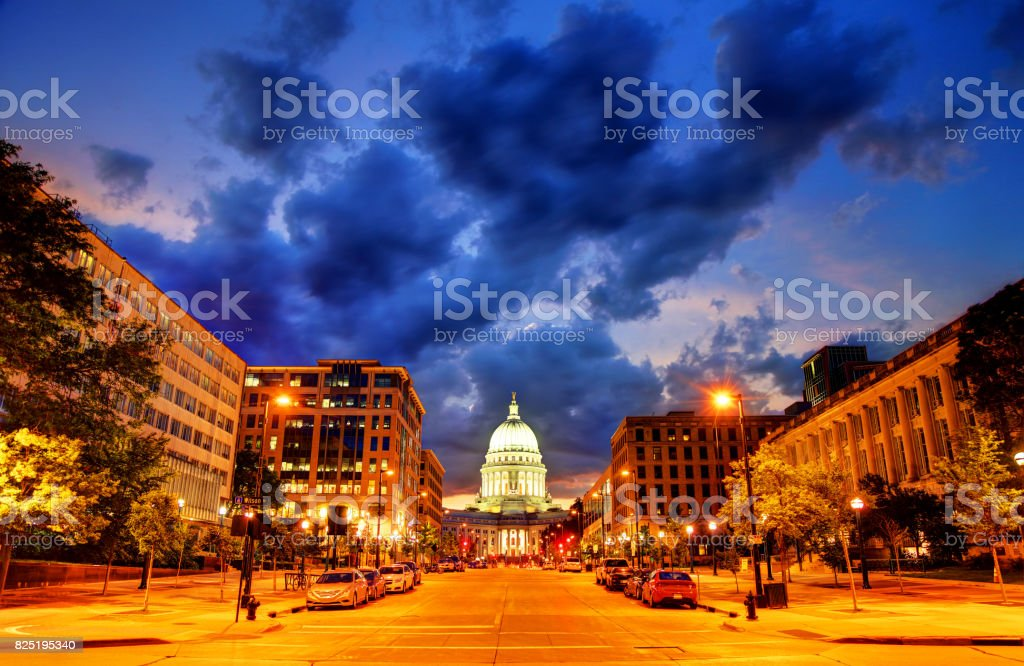 Wisconsin State Capitol stock photo
