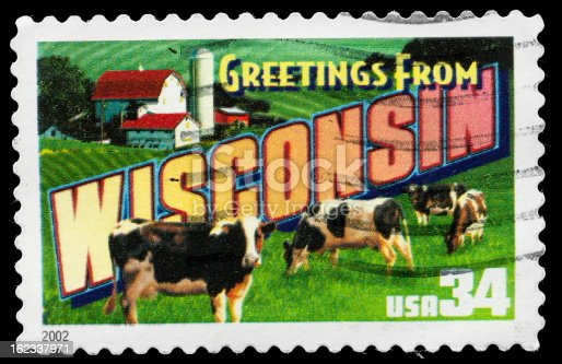 Wisconsin State Postage Stamp