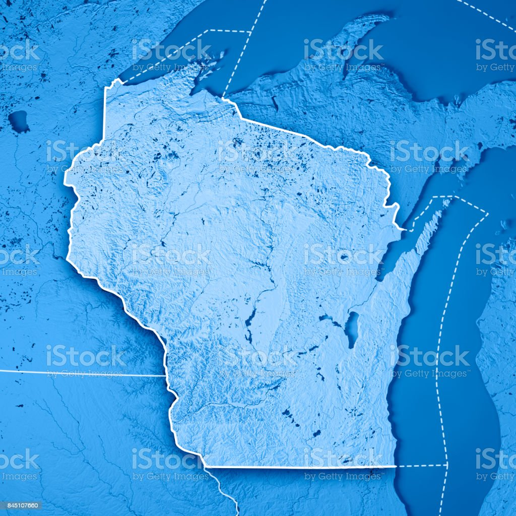 Wisconsin State Usa 3d Render Topographic Map Blue Border ... on satellite maps of maine, satellite maps of california, satellite maps of united states, satellite maps of alabama, satellite maps of wisconsin, satellite maps of new york, satellite maps of hawaii,