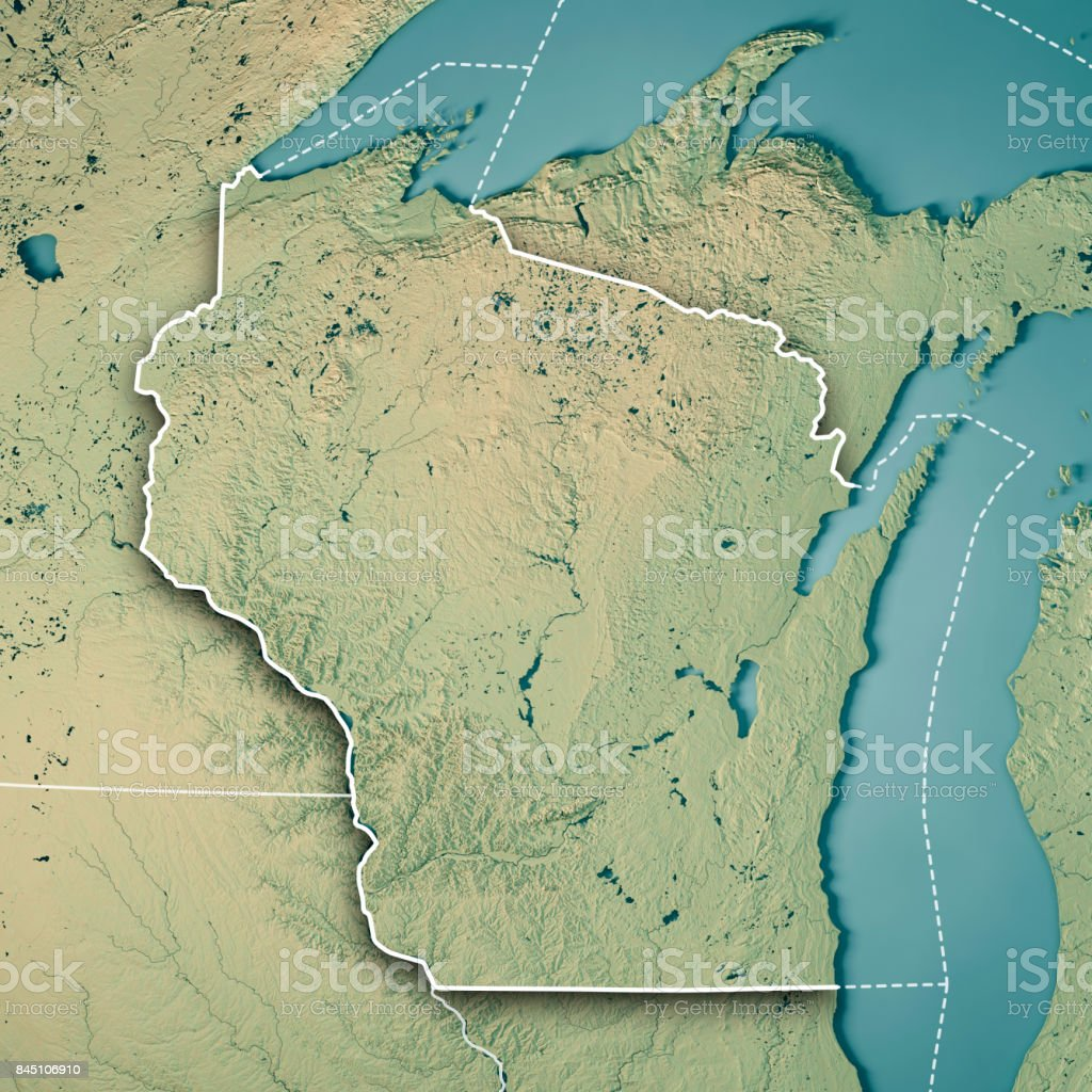 Wisconsin State Usa 3d Render Topographic Map Border Stock ... on satellite maps of maine, satellite maps of california, satellite maps of united states, satellite maps of alabama, satellite maps of wisconsin, satellite maps of new york, satellite maps of hawaii,
