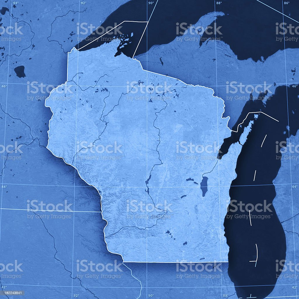 Wisconsin Topographic Map Stock Photo More Pictures Of Backgrounds
