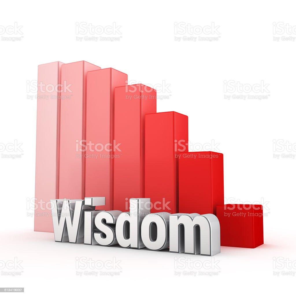 Wisdom grow down stock photo