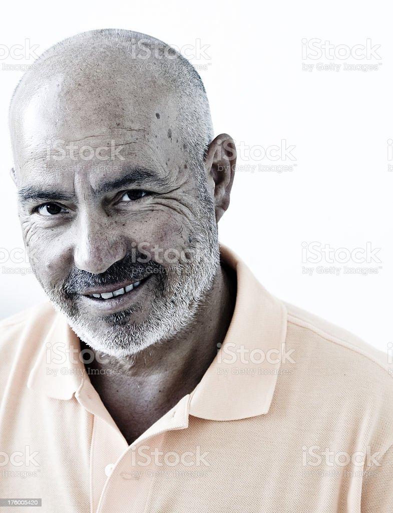 Wise happy man stock photo