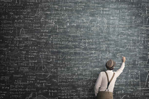 wise man got mathematical problem solution stock photo