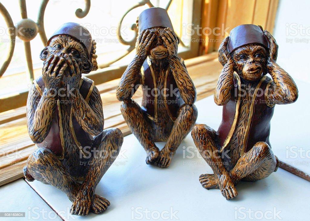 Wise Monkeys stock photo