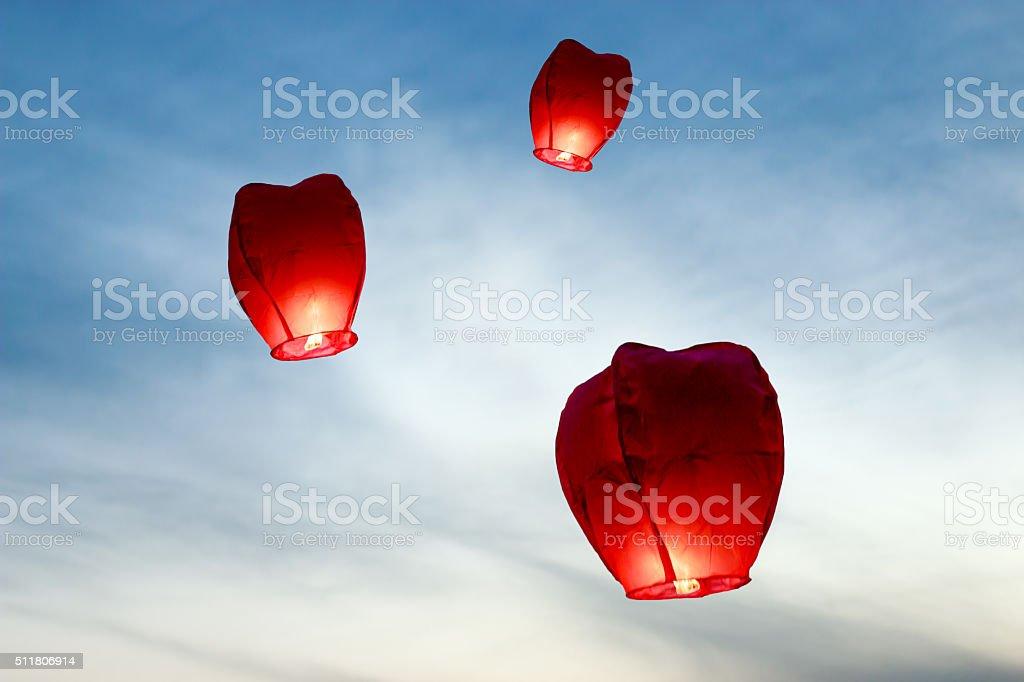 Wish Balloons stock photo