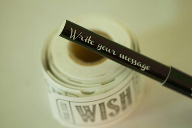 Wish Planner stock photo