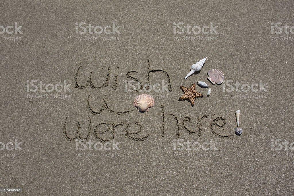 Wish U Were Here Scallop royalty-free stock photo