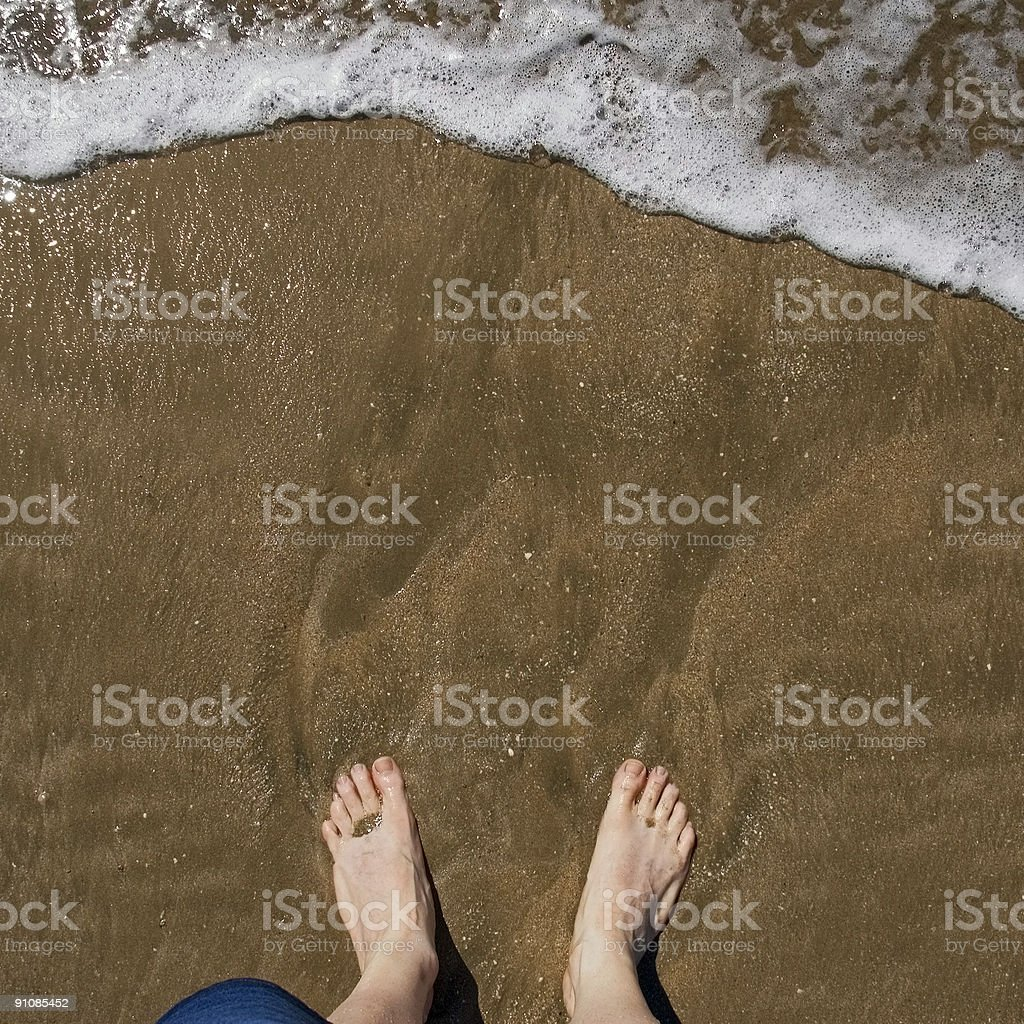 Wish You Were Here - Surf and Feet royalty-free stock photo