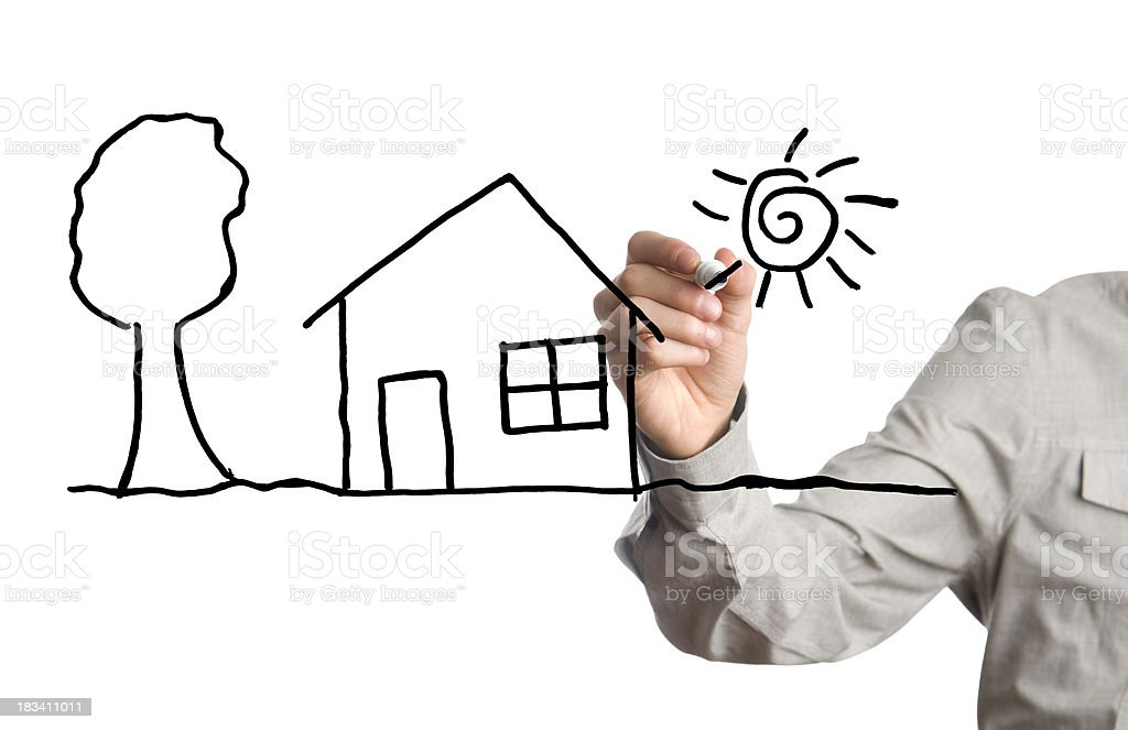 wishing a house royalty-free stock photo