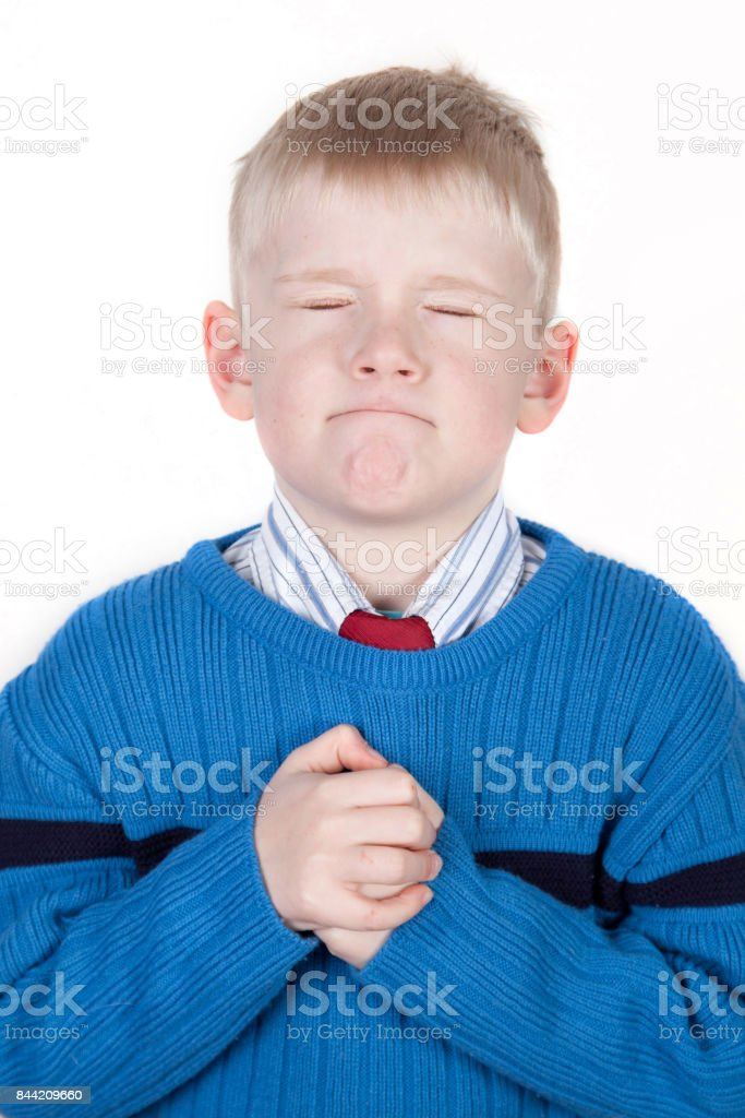wishing child stock photo