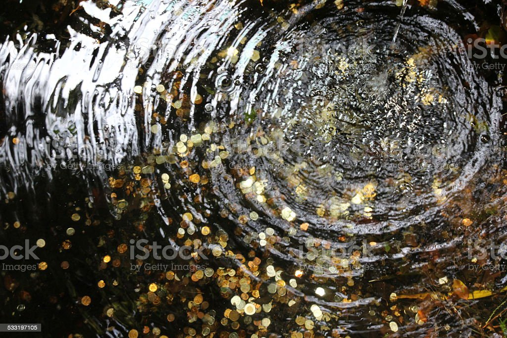 Wishing fountain stock photo