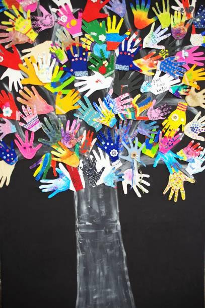 Wishing hands stock photo