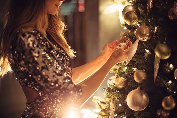 wishing  love for christmas - kleid mit verzierung stock-fotos und bilder