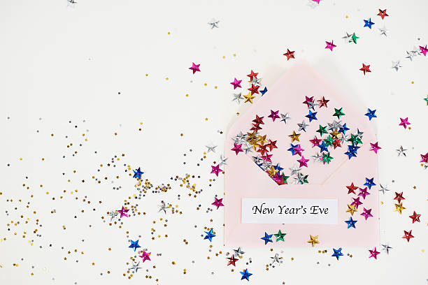wishing you happy new years day - shabby deko stock-fotos und bilder