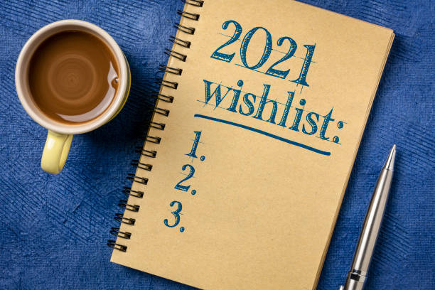 2021 wishlist - hopes and expectations for the New Year stock photo