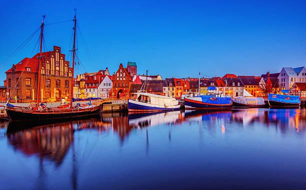 Wismar - Old Harbour stock photo