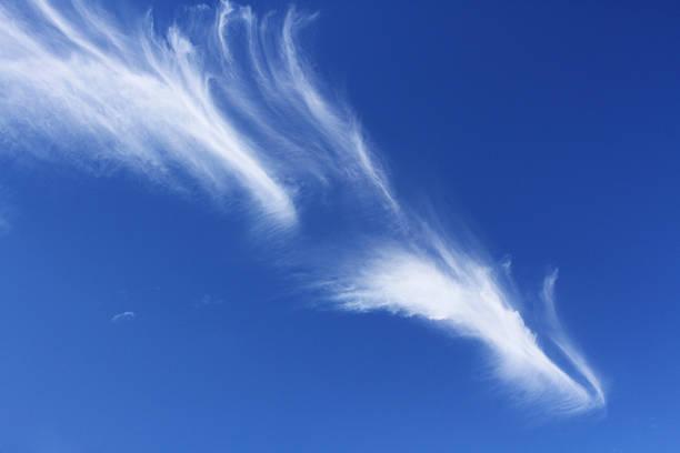 Wispy Cirrus Clouds stock photo