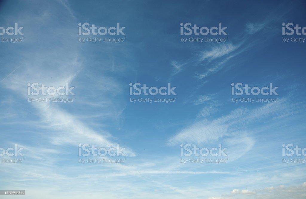Wispy Cloud Background stock photo