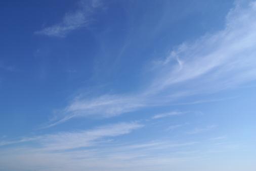 Cirrus cloudscape with tropical deep blue sky.-