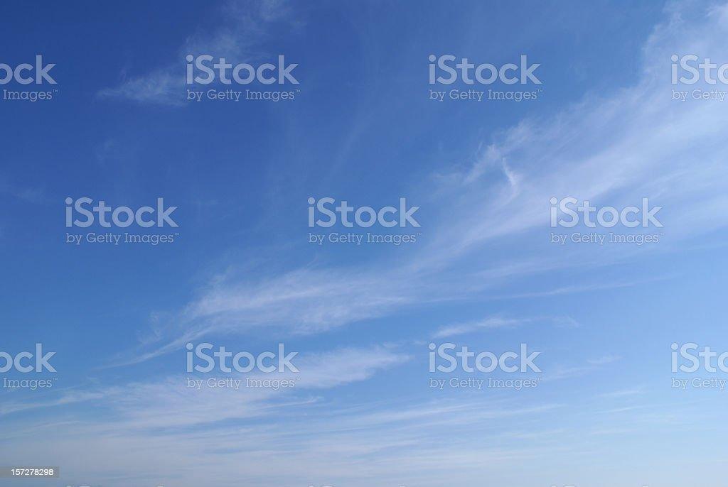 wispy cloud sky background stock photo
