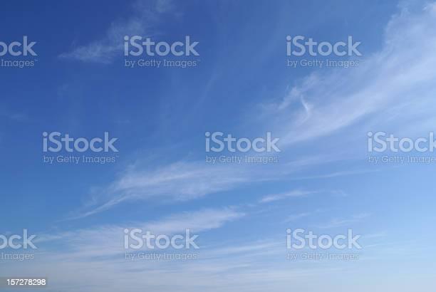 Photo of wispy cloud sky background