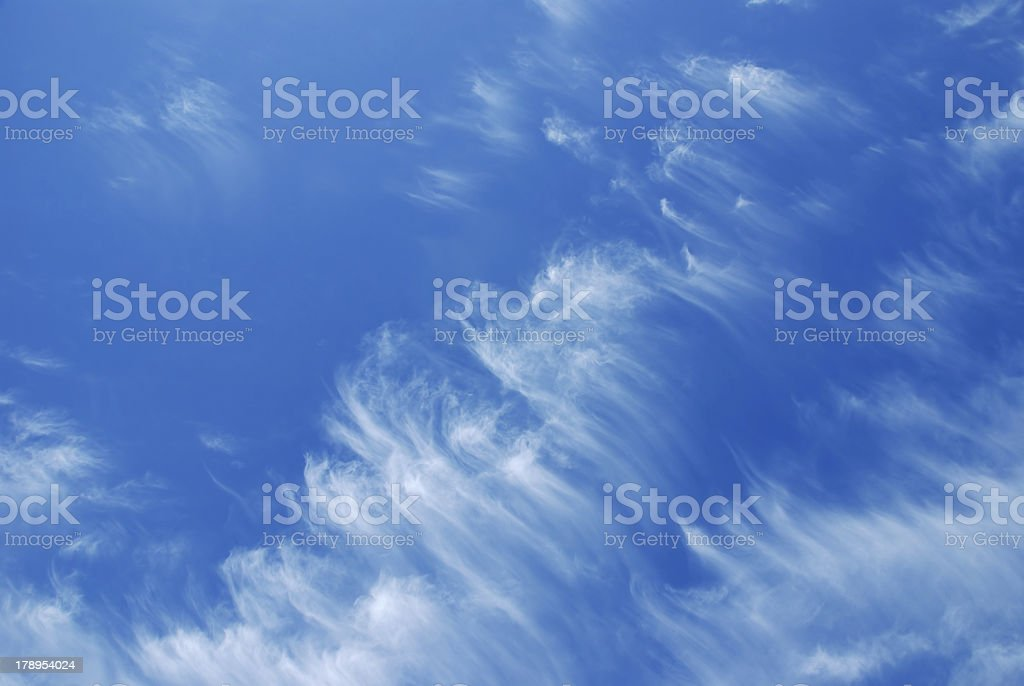 Wispy Clouds and Blue Sky stock photo