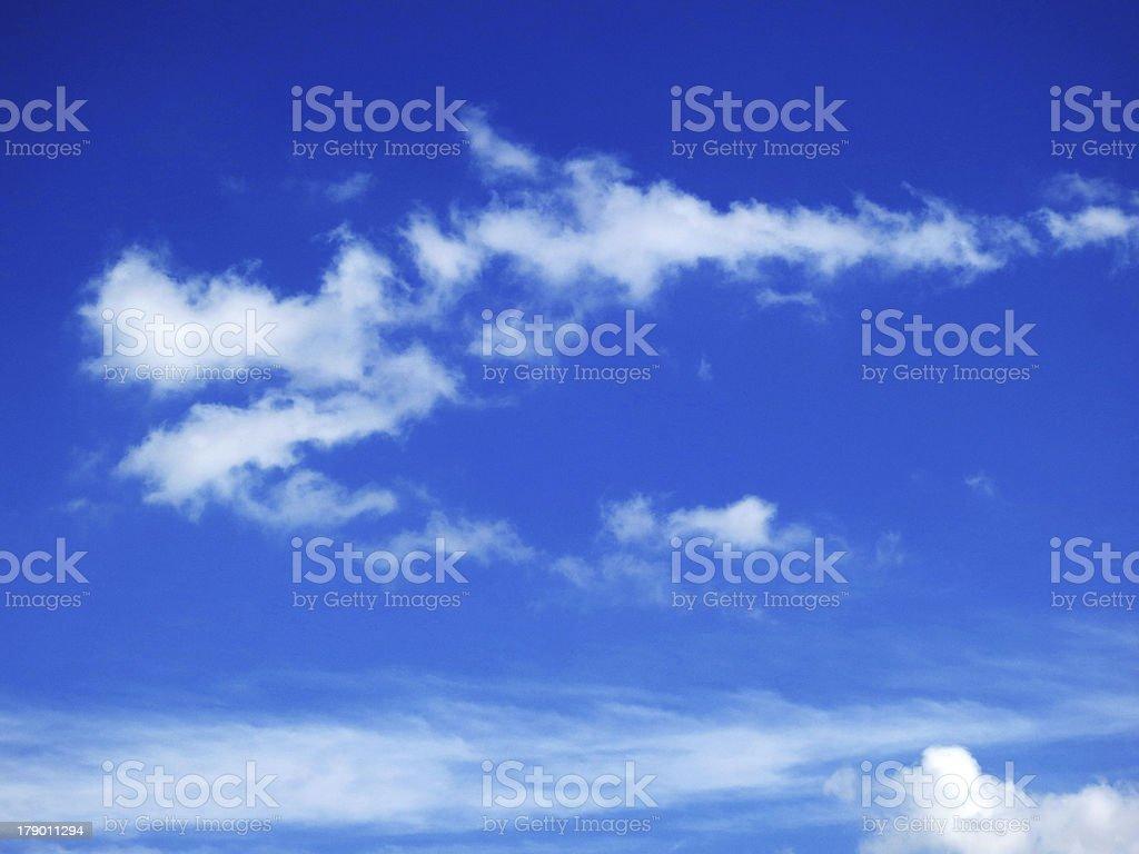 Wispy Clouds royalty-free stock photo