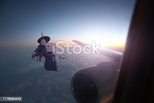 istock Witch and craft box. Halloween concept .3d illustration 1176064442