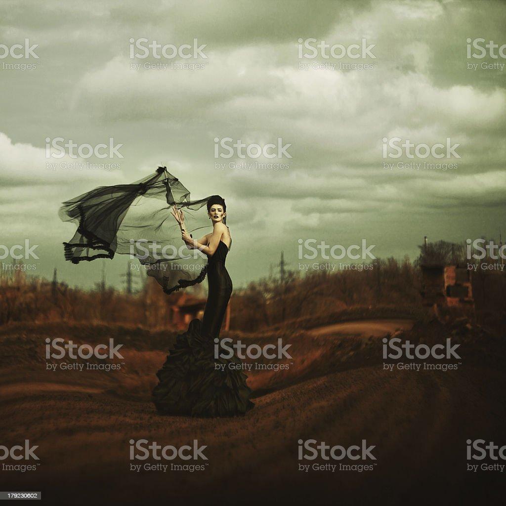 Witch. Black fashion stock photo