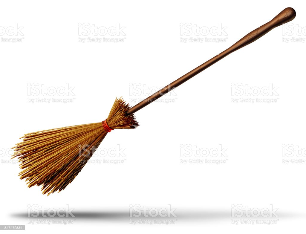 Witch Broom Object stock photo