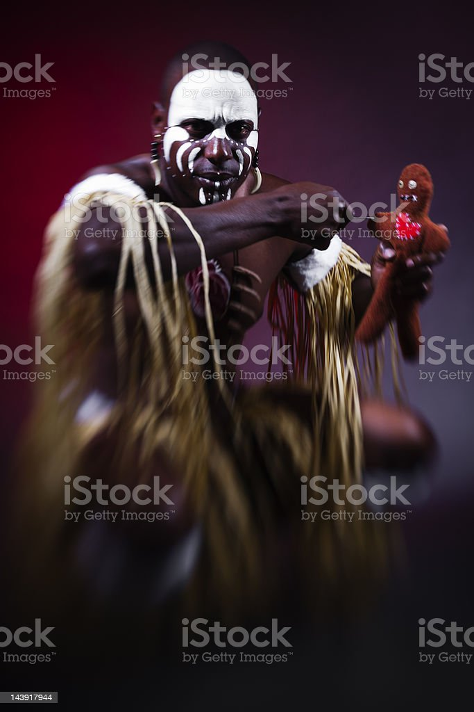 Witch Doctor stock photo
