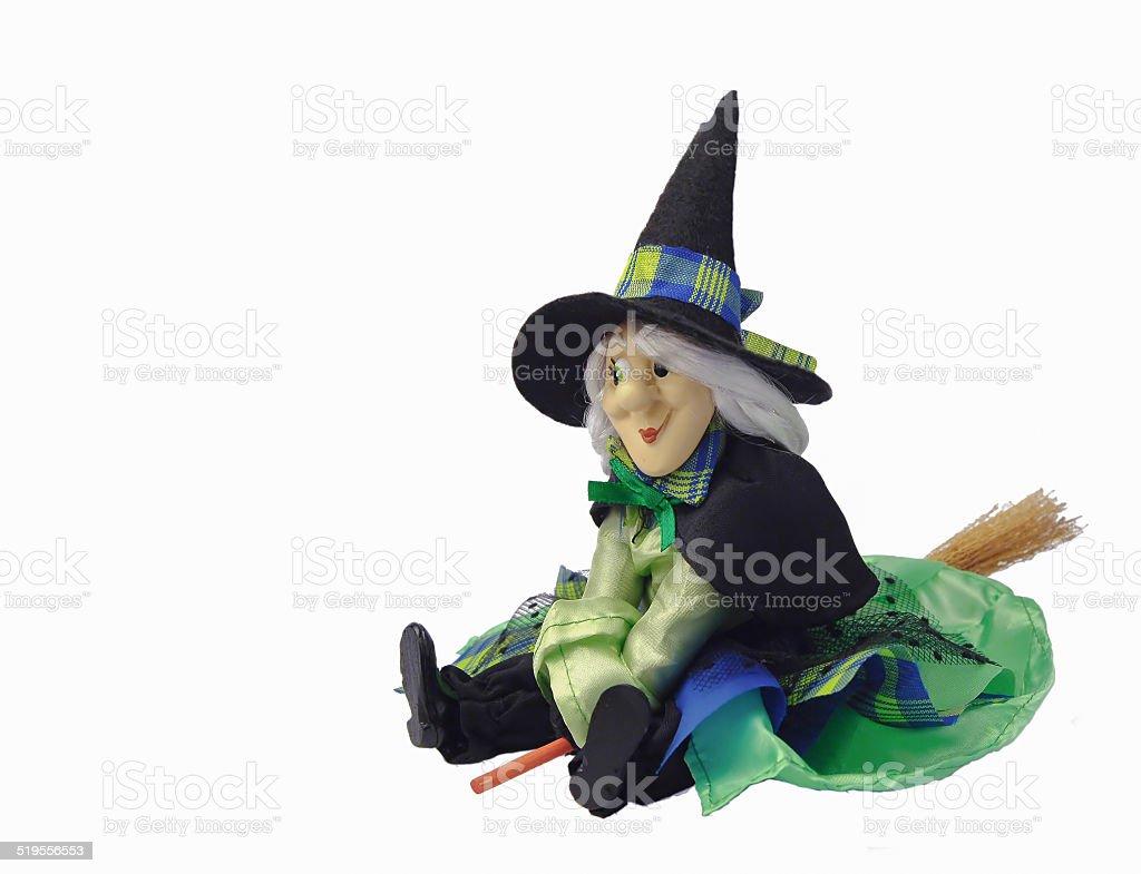 Bambola strega su sfondo bianco - foto stock