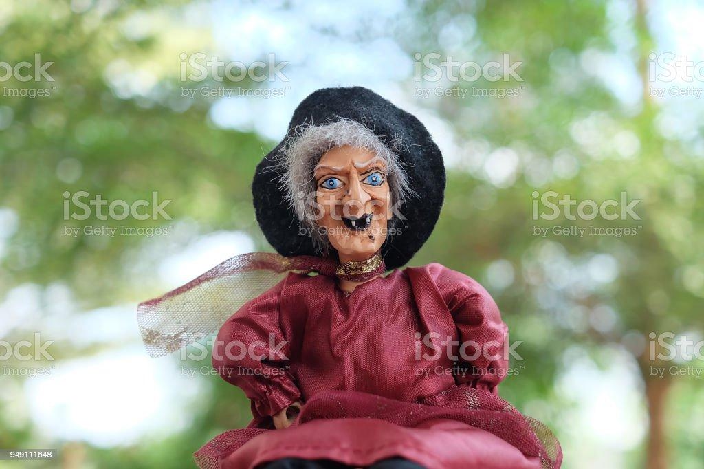 Marioneta de bruja - foto de stock